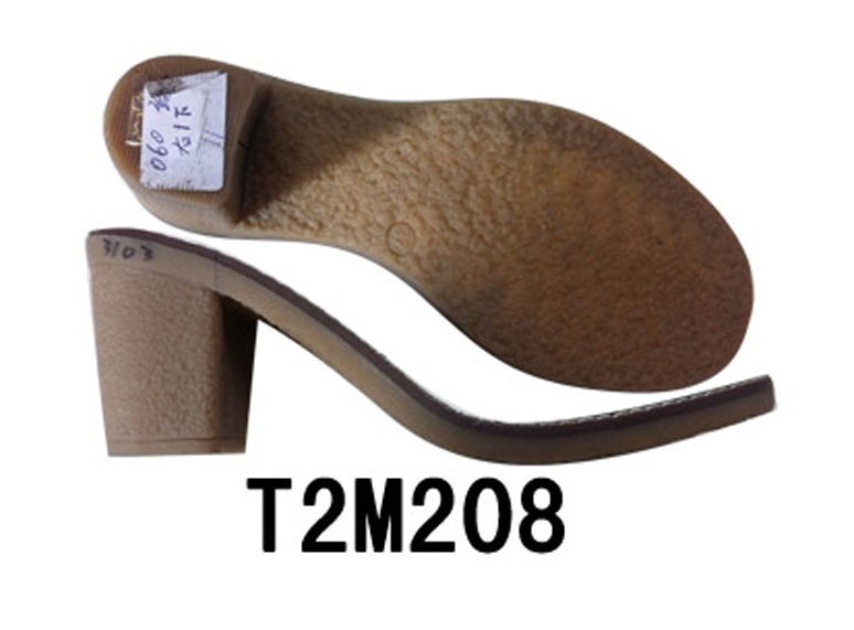 Fashion Style Women′s Leather Shoe Sole TPR Sole (T2M2008)