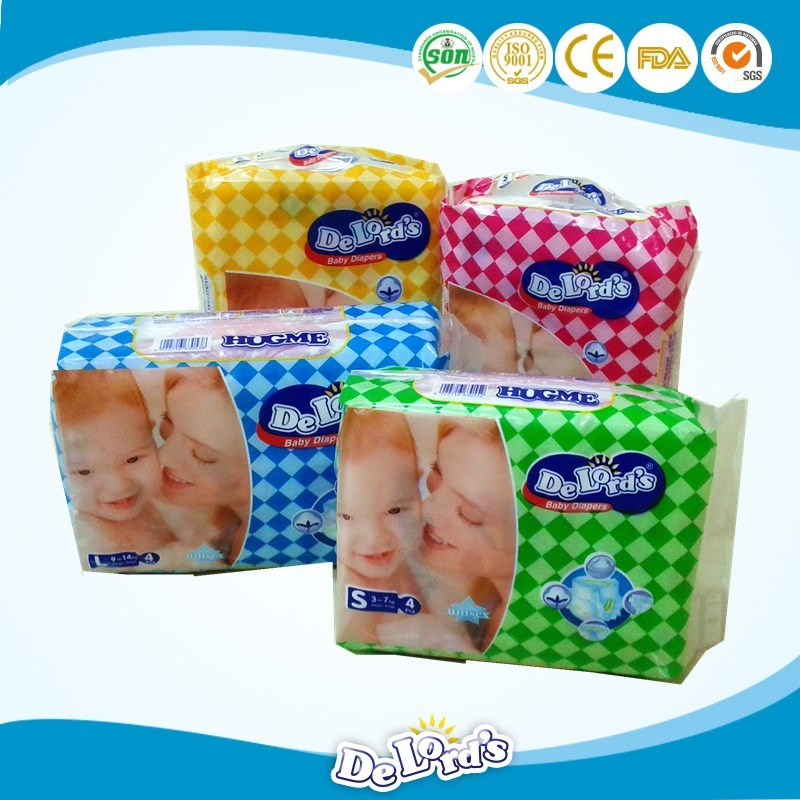 Hook & Loop Tape Soft Breathable Disposable OEM Baby Diaper