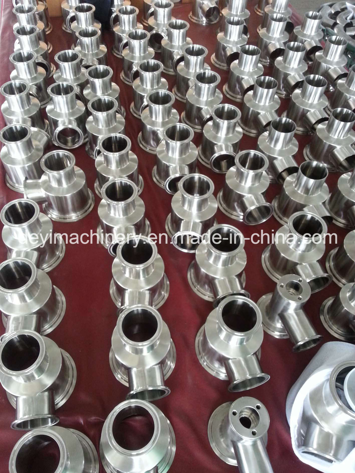 Stainless Steel Hygienic High Precision Sanitary Pipe Fittings (DE-S001)