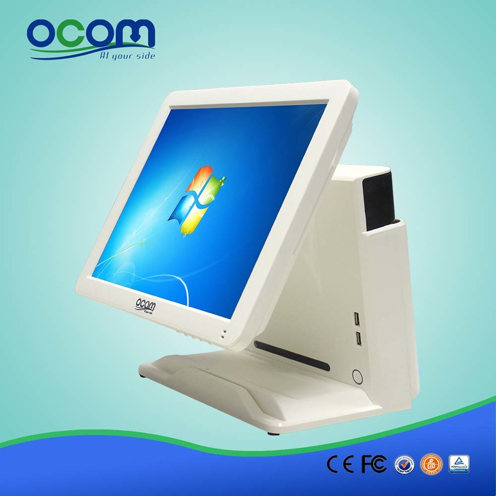 "(POS8618) 15"" Dual Screen Touch Screen Monitor LCD Display All in One PC POS Terminal"