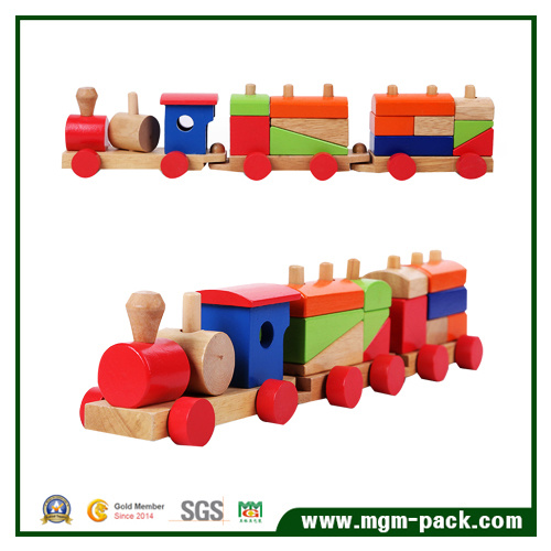 Eco-Friendly OEM Design Kids Wooden Train Set for Education