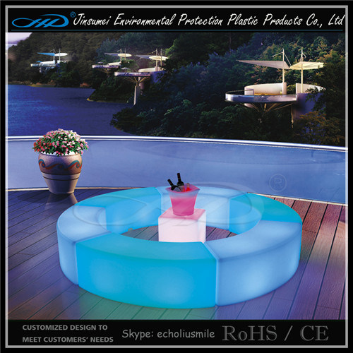 Factory Direct Price Rechargeable LED Furniture with LLDPE Material.