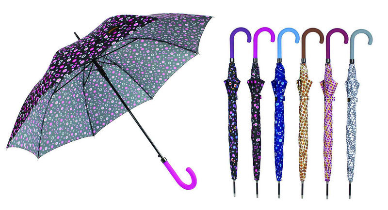 Colorful DOT 3 Fold Windproof Auto Umbrellas (YS-3FA22083962R)