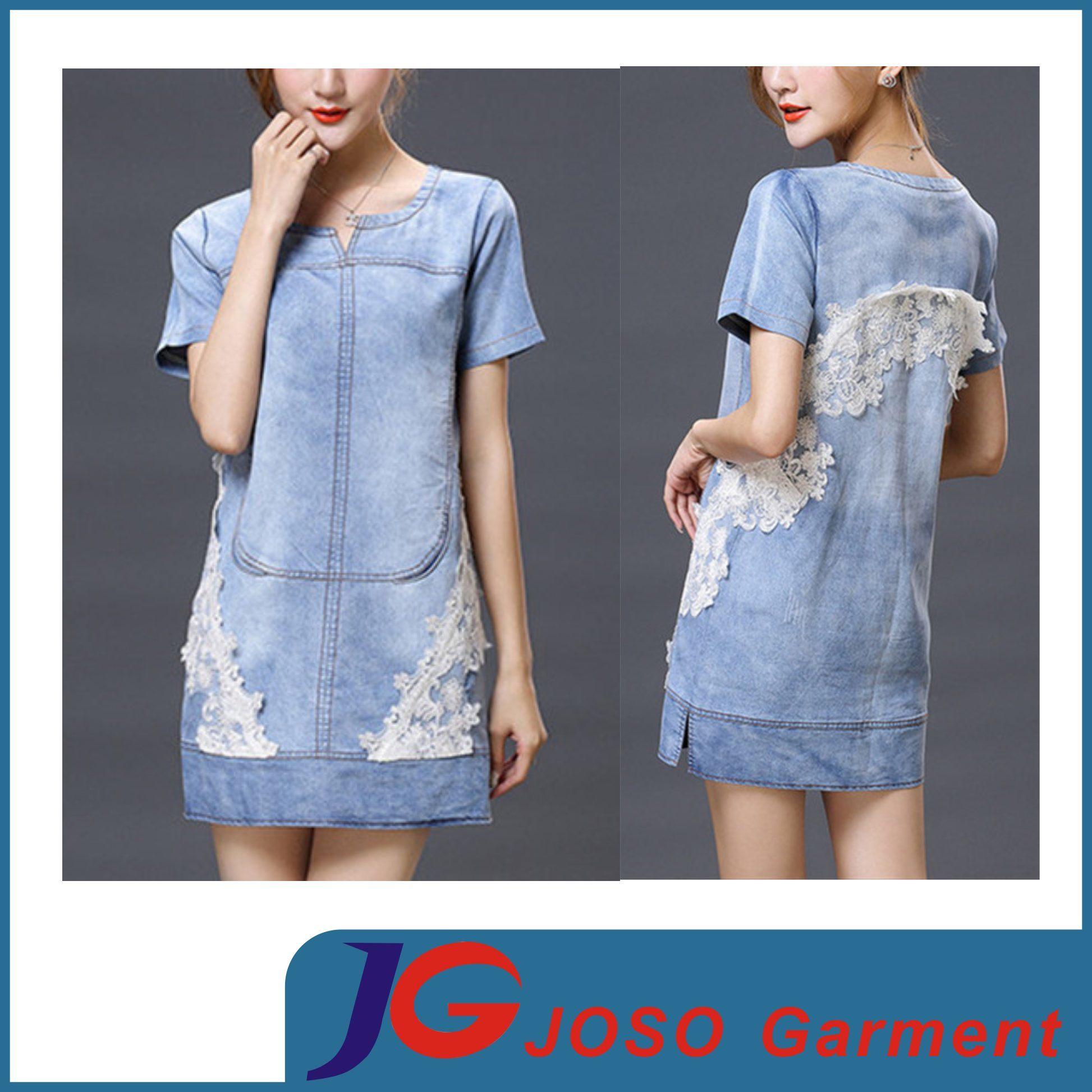 Women Modest Dress Clothes Cotton Denim Maxi Skirts (JC2117)