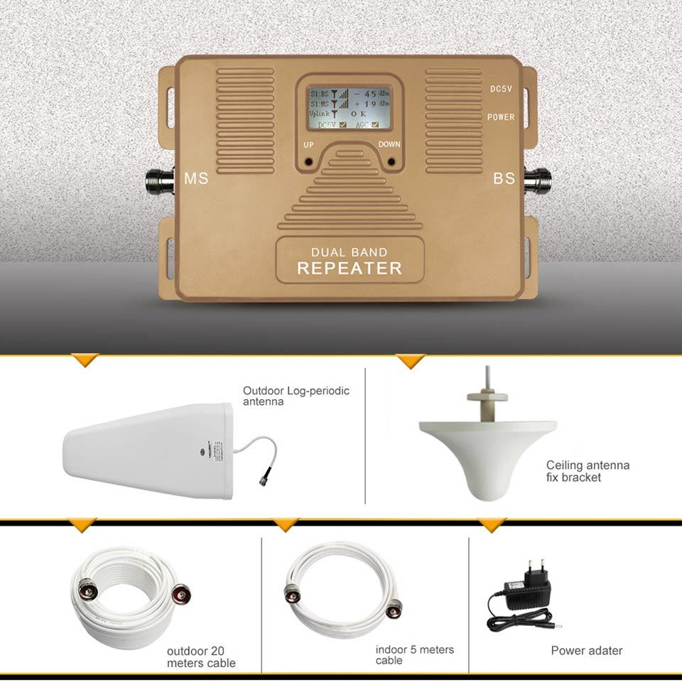 2g+4G Mobile Signal Repeater 900/1800MHz Signal Booster