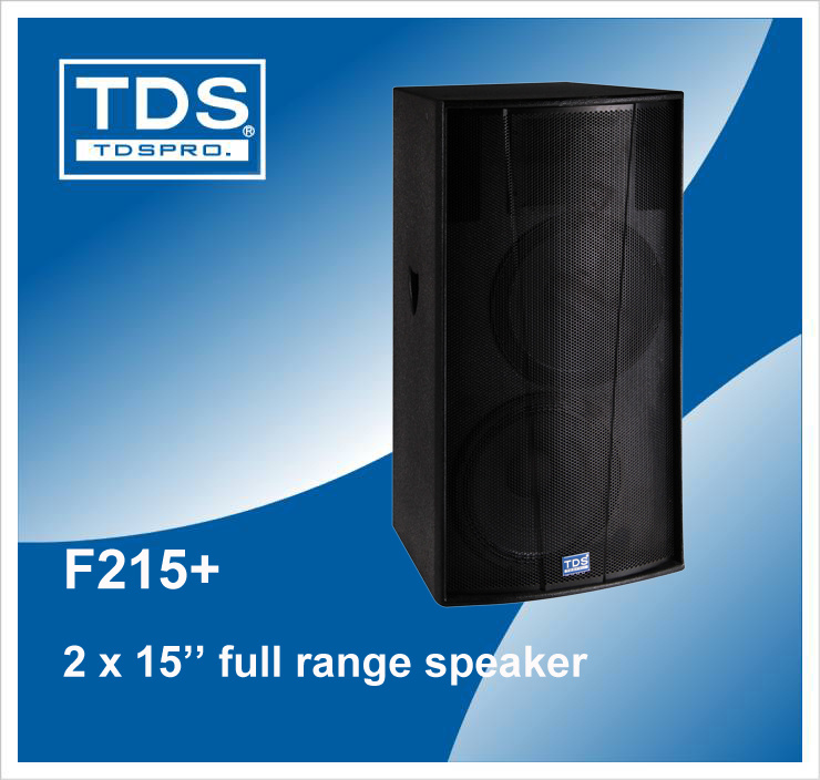 High Power Dual 15 Inch Two Way Entertainment-Purpose Loudspeaker