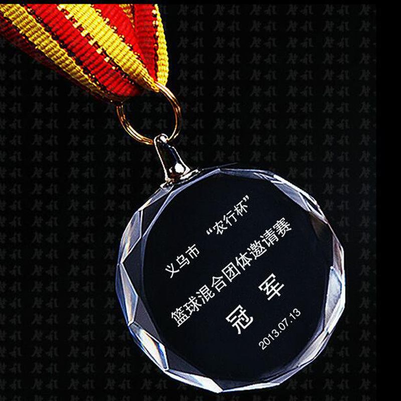 60mm 70mm 80mm Clear Glass Medal, Crystal Medallion
