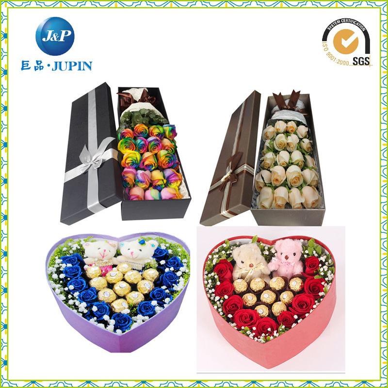 Wholesales Huge Cardboard Heart Paper Flower Box (JP-box020)