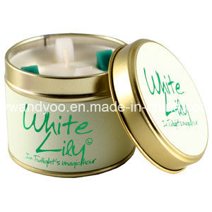 Romantic Aroma Scented Home Decorative Candles in Tin