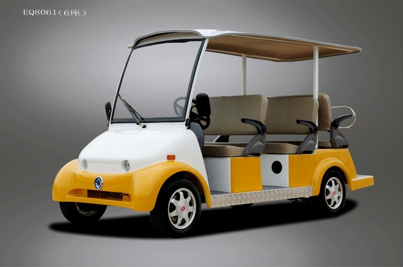 Blue Electric Sightseeing/Crusier/Utility Car/Cart with 6 Seater, High Quality