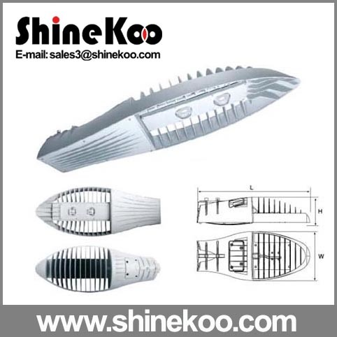 120W Middle Size Shark Fin Die-Casting LED Streetlight Housing