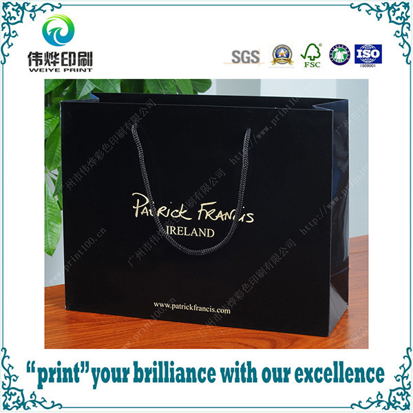 Custom Luxury Printing Packaging Paper Bag with Handle for Shopping