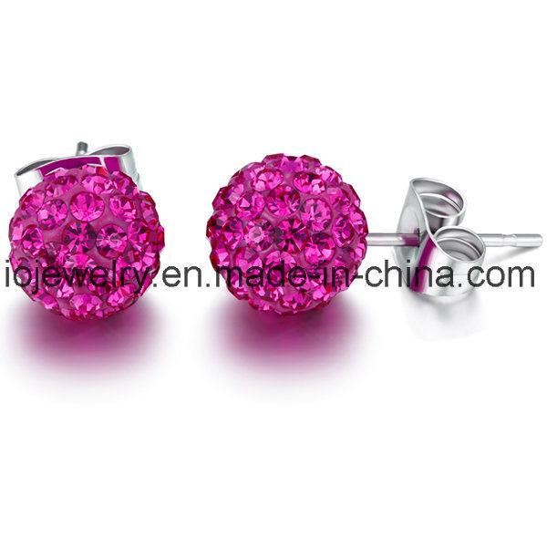 Surgical Steel Shamballa Jewelry Stud Earrings