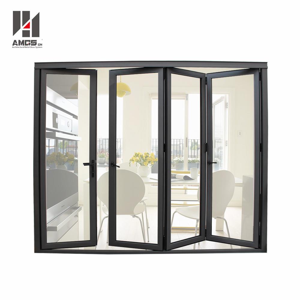Double Glazing Aluminum Folding Door Aluminium Bifold Door
