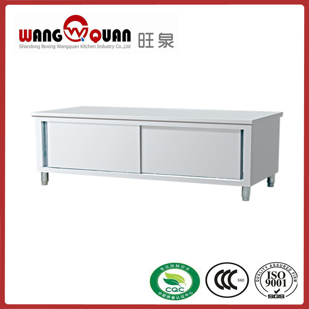 Restaurant Double Swing Door Stainless Steel Work Table