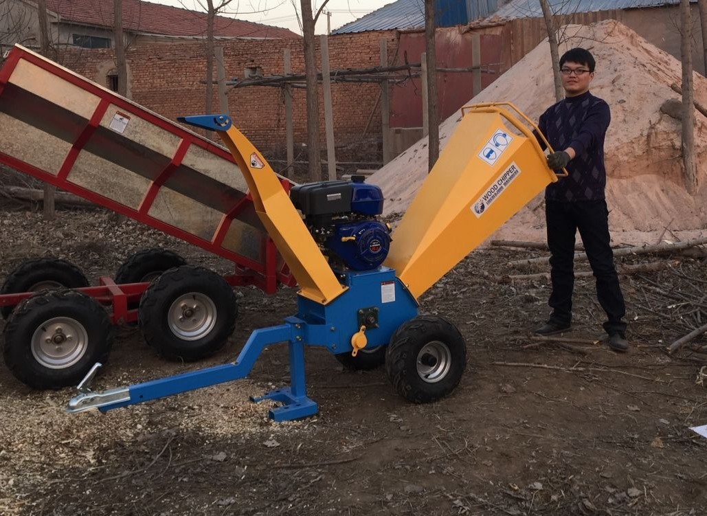 Self Powered Gasoline Wood Chipper for Sale