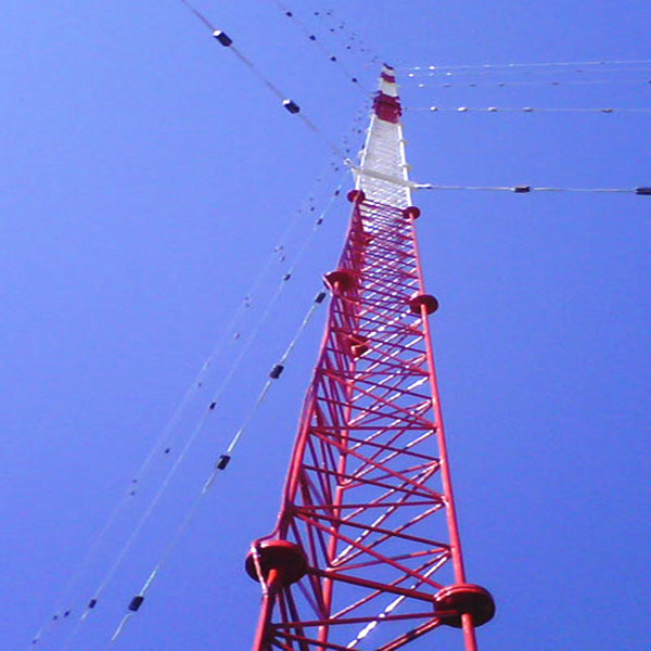 3 Legs Solid Round Steel Communication Guyed Tower