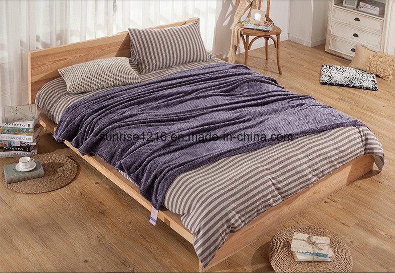Warm and Light Coral Waffle Blanket Sr-B170211-2 Super Soft Blanket