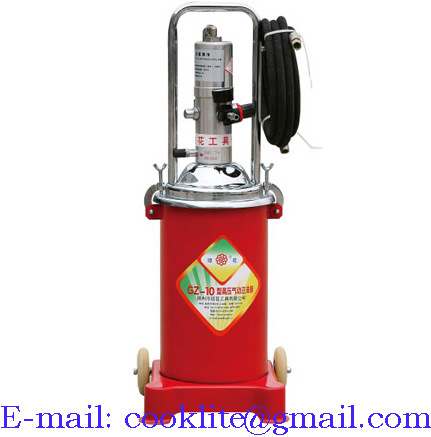 High Pressure Pneumatic Grease Pump Air Operated Lubrication Bucket - 12L