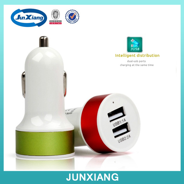 2A/1A Mini USB Battery Car Charger for Mobile Phone