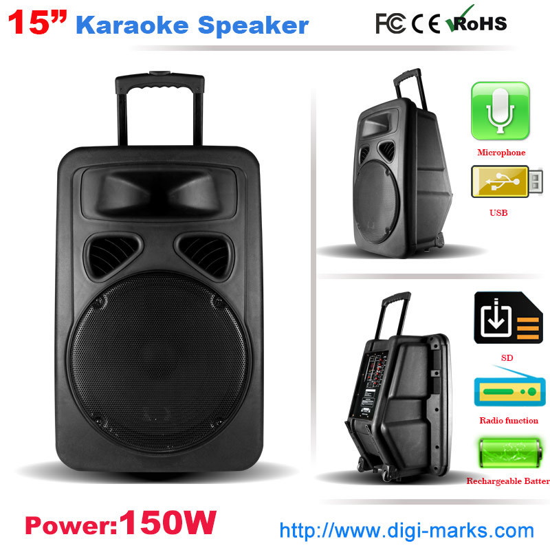 Ce Certificated Karaoke Speaker Box Active Speaker Home Theater System