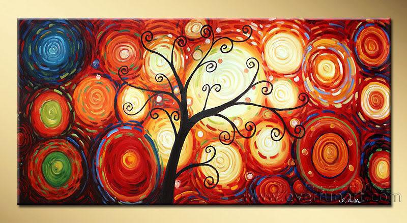 Peinture l 39 huile abstraite moderne la1 034 peinture l 39 huile ab - Peinture a l huile abstraite ...