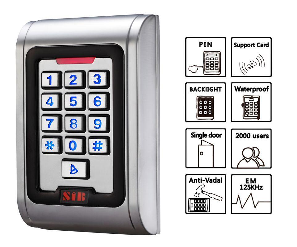 Waterproof IP68 Access Control Keypad (S100EM)