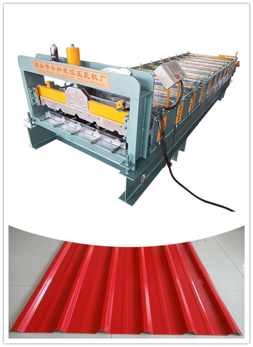 Trapezoidal and Corrugated Tile Making Ibr Roofing Sheet Roof Roll Forming Machine