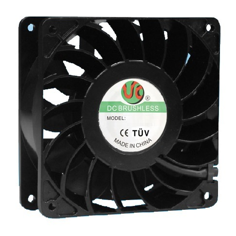 120mmx120mm X38mm High Air Impedance Axial Fans, AC120508 for High Temperature Environment