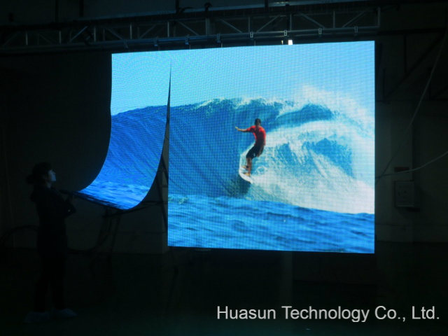 P37.5mm Slim Flexible LED Video Display Curtain for Christmas Stage