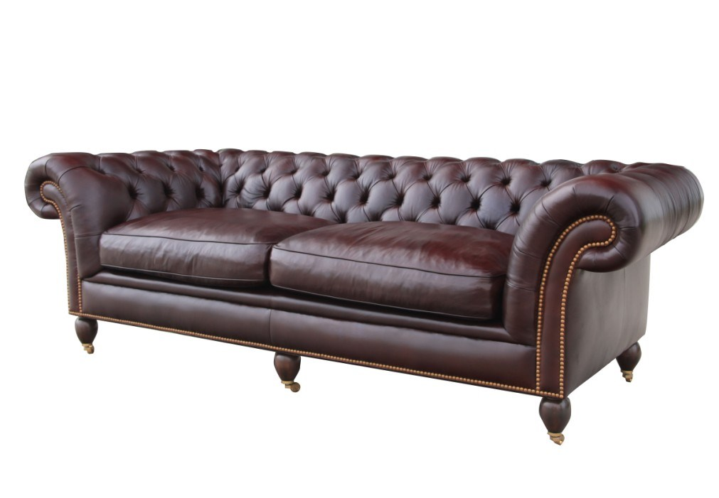 Antique Chesterfield Leather Sofa Living Room Sofa Set