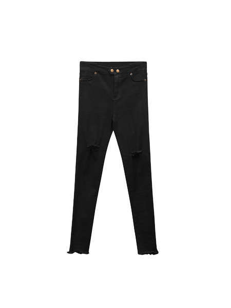 High Waist Pencil Denim Women Jeans with Strong Stretch