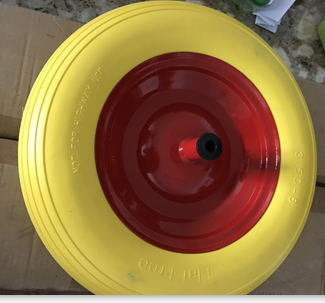 High Quality PU Foam Wheel with Reach and PAHs Free Certificate (400-8)