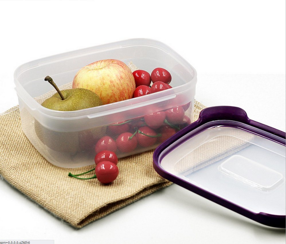 6 in 1 Food Container Environmently Food Grade Plastic Fresh-Keeping Box Fridge Multi Capacity Save Space for Kitchen/PP storage