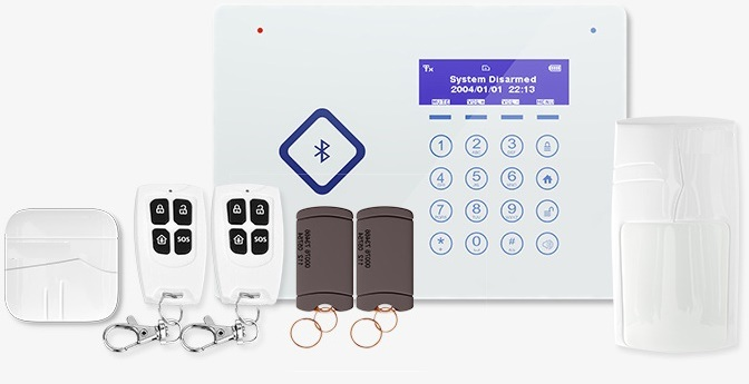 Home GSM Alarm System with RFID Card (ES-G66B)