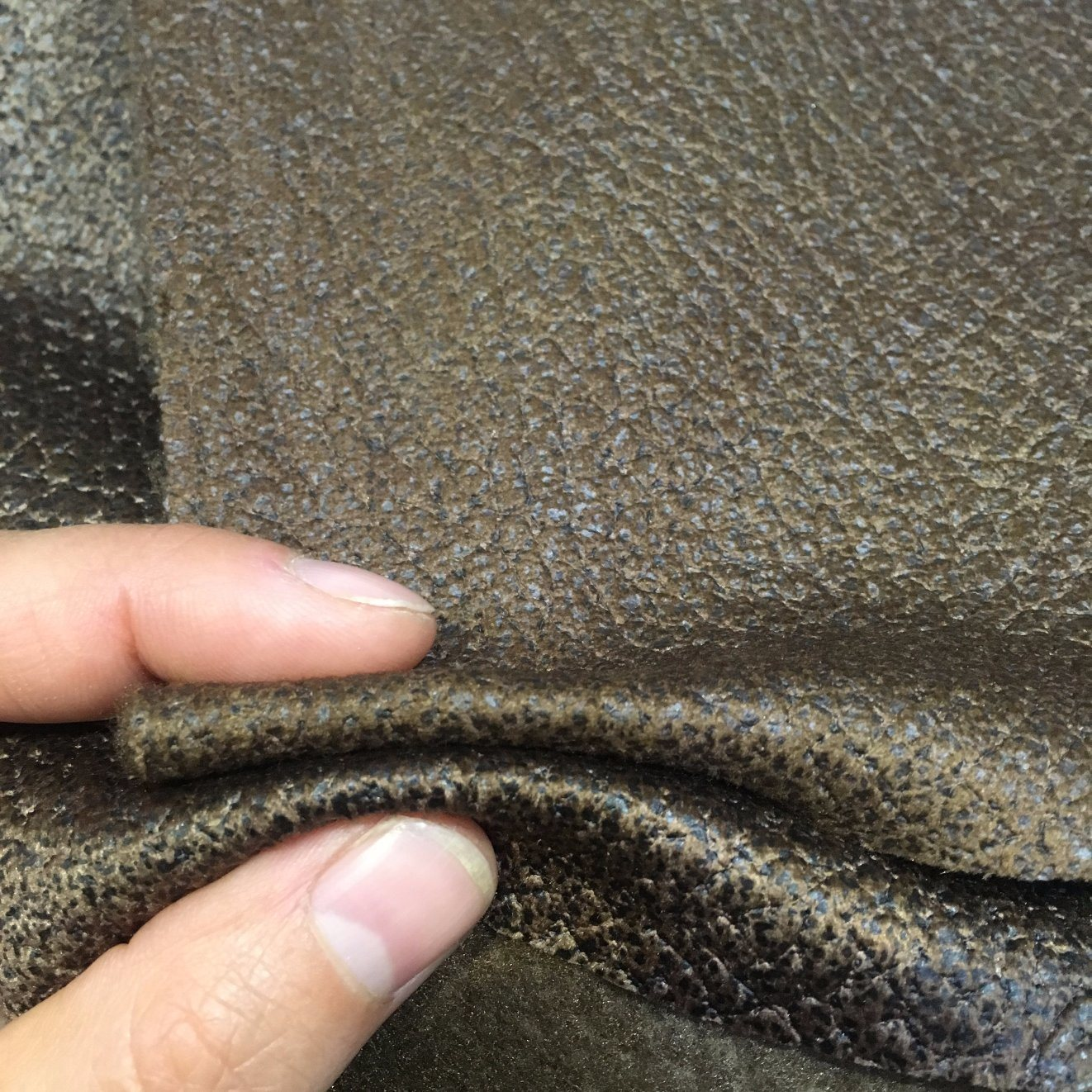 PU Looking Sofa Fabric Made From Velvet (621CB)