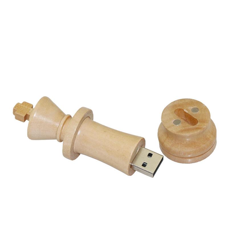 100PCS/Lot Wood USB 2.0 USB Flash Drives 4GB 8GB 16GB 32GB 64GB Chess Pen Drive USB Memory Stick U Disk Customized Logo Gift USB
