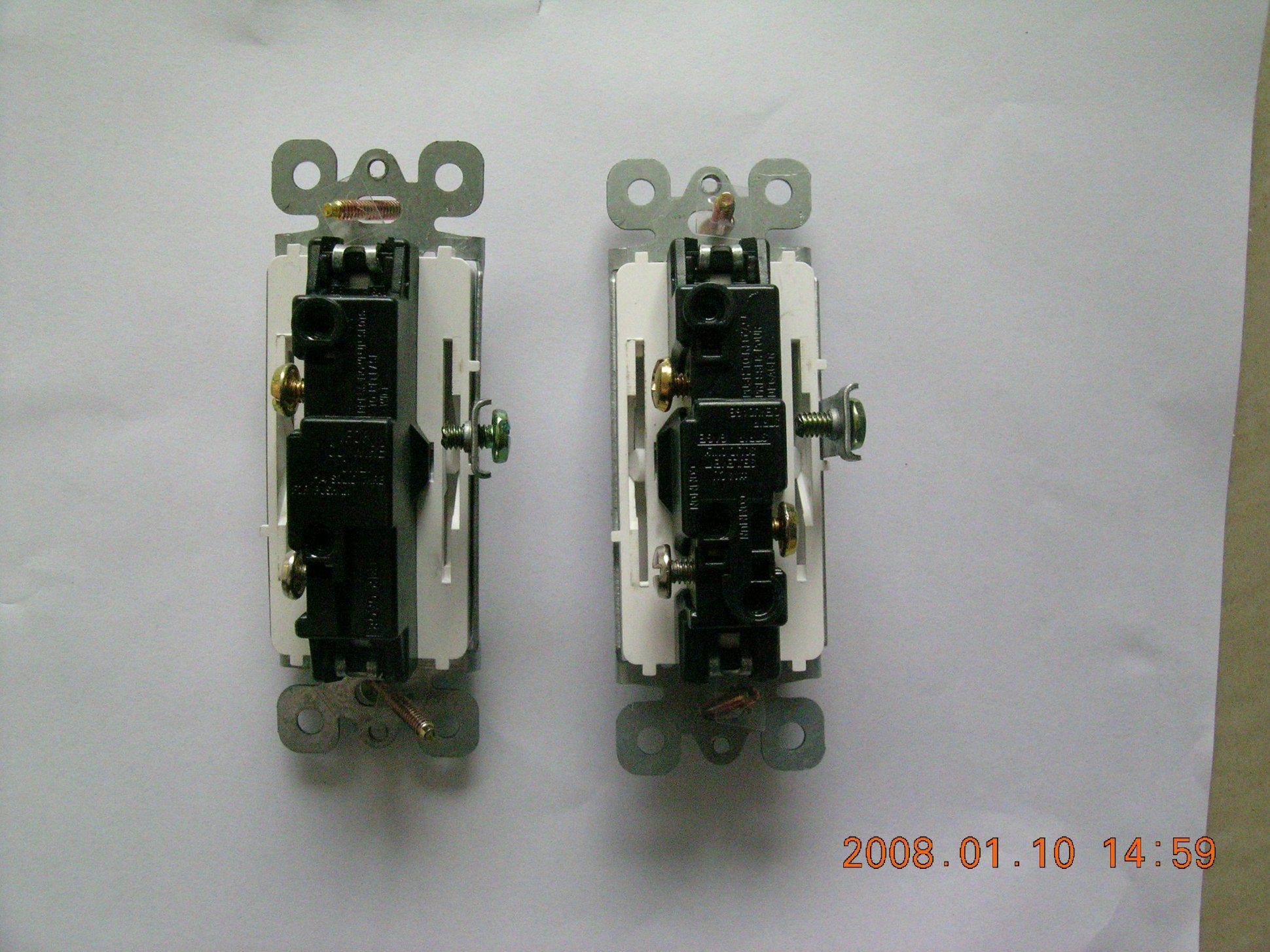 15A 120/277V Decora Rocker UL/cUL Switch, Residential Grade