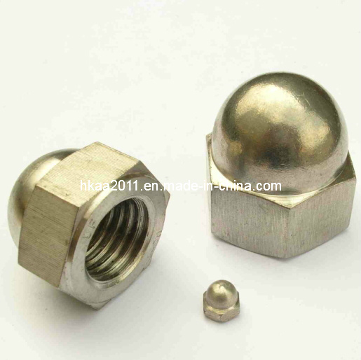 Zinc Plated Steel Hex Drive Dome Head Cap Nut