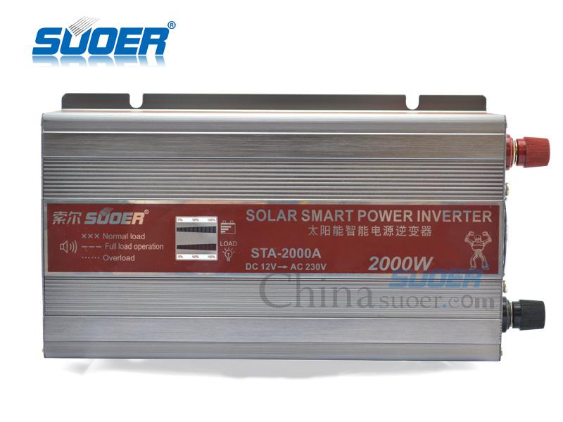 Suoer Power Inverter 2000W Solar Inverter 12V to 220V (STA-2000A)