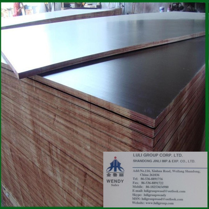 Brown/Black Film Faced Plywood, Marine Plywood for Building/Construction