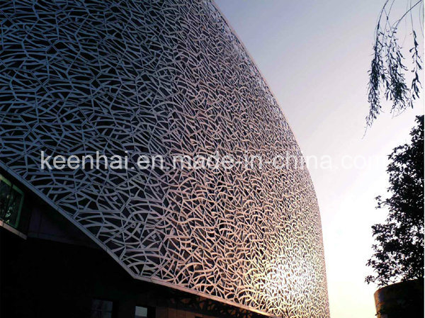 Building Exterior Laser Cut Stainless Steel Aluminum Curtain Wall