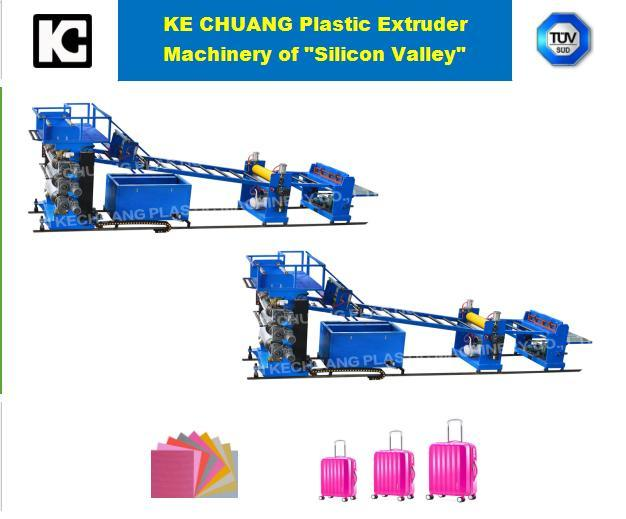 ABS, PC, PP, PS, PE, PMMA Single-Layer Sheet Plastic Extruder Machine for Luggage
