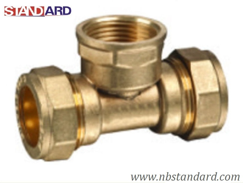 China brass equal tee copper fitting pipe