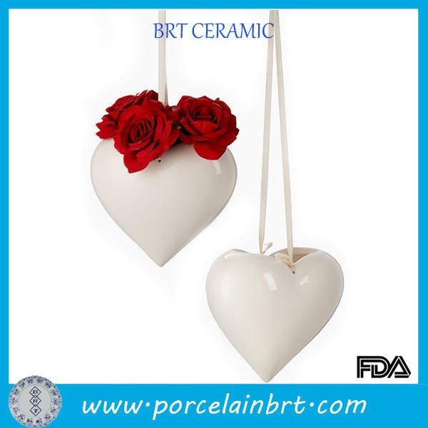 Home Decroation Hanging Heart Shaped Vase for Wedding