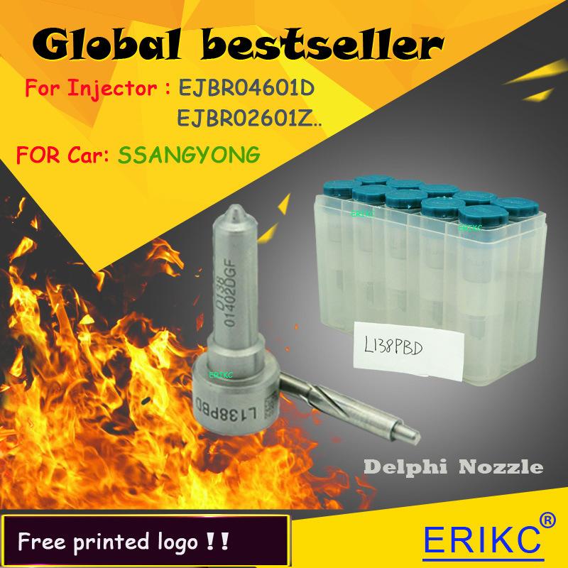 L138pbd Original Delphi Fuel Injector Nozzle L138prd Ssangyong D27dt 2.7L Ejbr02601z Ejbr04601d