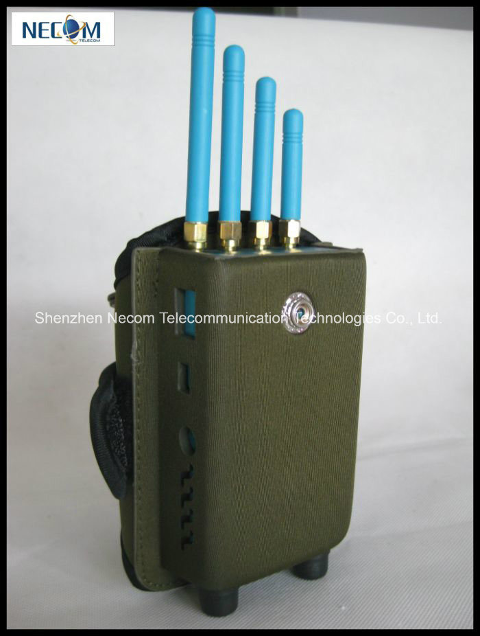 China High Power Handheld Signal Jammer Five Band GPS Jammers with Military Bag Packing, Special Designed for GPS Frequencies - China Mobile Signal Jammers, Mobile Phone