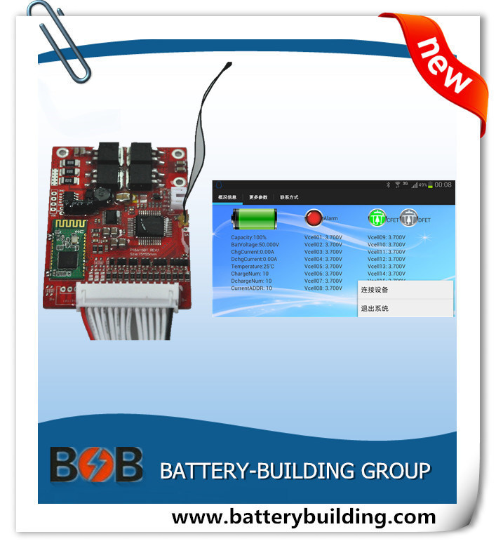 New Arrival 13s 15A PCB/BMS with Bluetooth for Lithium Battery