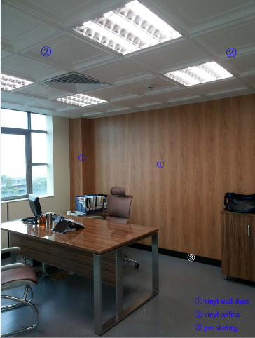 Regid Vinyl Sheet Wall Sheet Plastic Panels