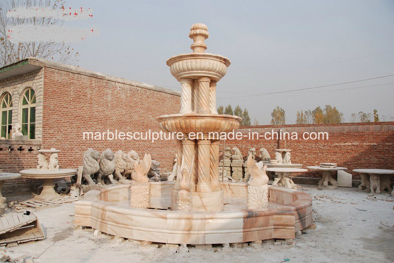 Well Polished Beautiful Hand Carved Outdoor Marble Fountain (SY-F117)